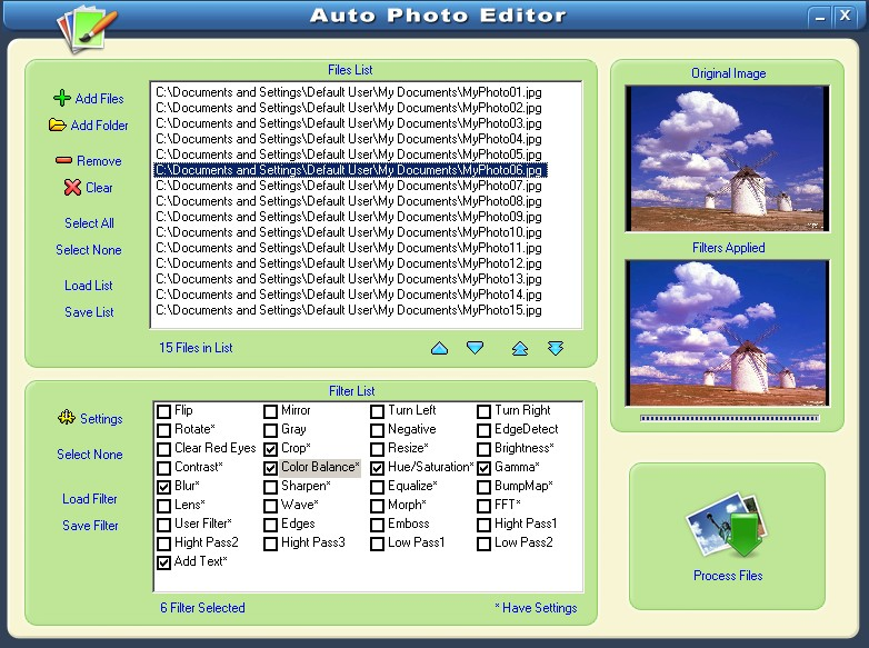 Automatic Batch Photo/Image Editing Converter Software